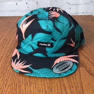 Hurley NWT SnapBack Tropical Hat Bird of Paradise